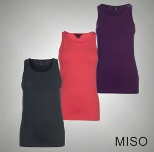 Ladies-Miso-Lightweight-Sleeveless-Block-Colour-Tank-Top-Sizes-from-8-to-18