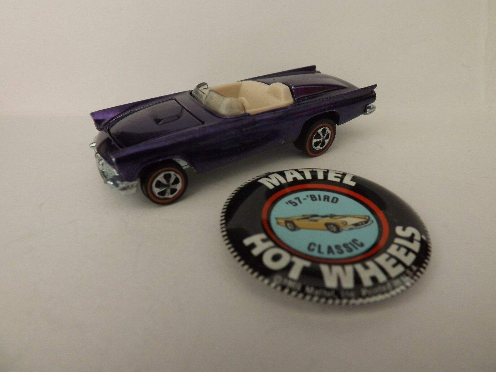 HOT HOT HOT WHEELS RED LINE CLASSIC '57 'BIRD IN PURPLE - ORIGINAL OWNER - NO PLAY 5346f5