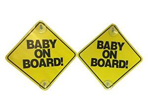BABY ON BOARD SAFETY CAR WINDOW SIGN WITH 2 SUCTION CUPS - 6 PACK! 817385016904