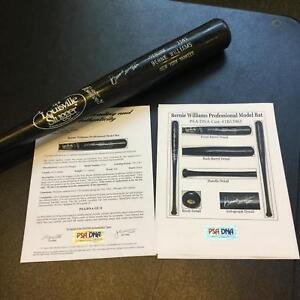 1990's Bernie Williams Rookie Era Signed Game Used Baseball Bat PSA DNA GU 8 COA