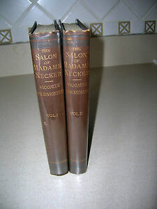 The-Salon-of-Madame-Necker-By-Vicomte-D-039-Haussonville-1882-2-Vols-French-History