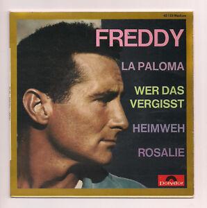 7-034-EP-Freddy-La-Paloma-Wer-das-vergisst-Heimweh-Rosalie-Polydor-France-60er