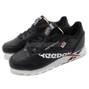 Image is loading Reebok-Classic-Leather-Altered-Black-White-Red-Chalk- 312161879