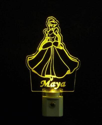 """kids lamp  3//8/"""" Acrylic Personalized Princess LED Night Light"""