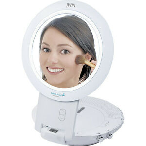 Jwin-Shower-Radio-AM-FM-CD-Player-Mirror-Hang-or-Countertop-New-Free-US-Shipping