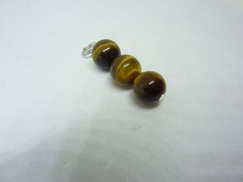 Pendentif protection oeil de tigre perles rondes 10 mm