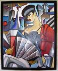 HST tableau huile sur toile peinture Stephane Gisclard la voile bleue