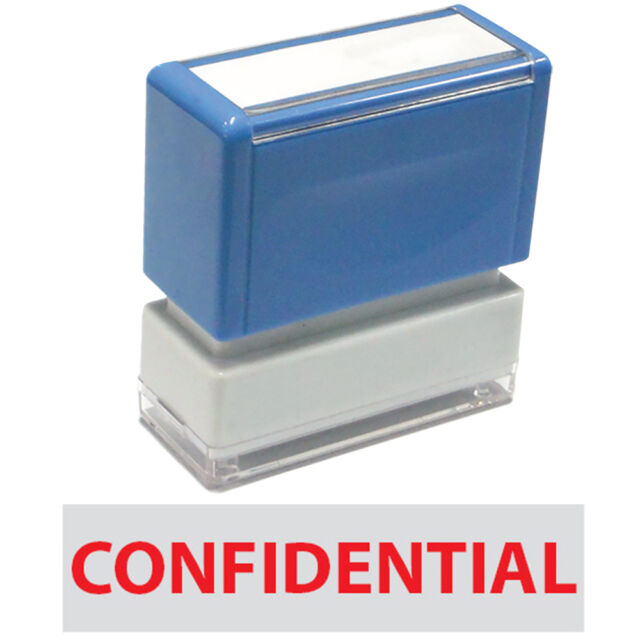 """JYP PA1040 Rectangle Stock Pre-Inked Rubber Stamp with """"Confidential"""""""