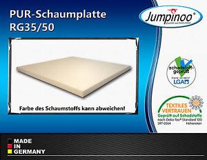 schaumstoff polster zuschnitt schaumstoffplatten camping matratze pur rg35 50 ebay. Black Bedroom Furniture Sets. Home Design Ideas