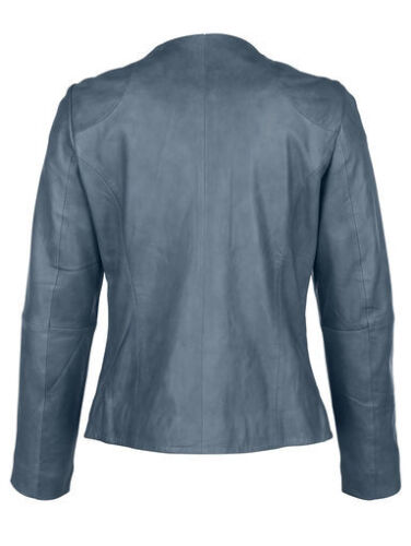 Nappa Nuovo Jeans Giacca 38 Blu Lamb in pelle Giacca Gr in pelle qqPZY