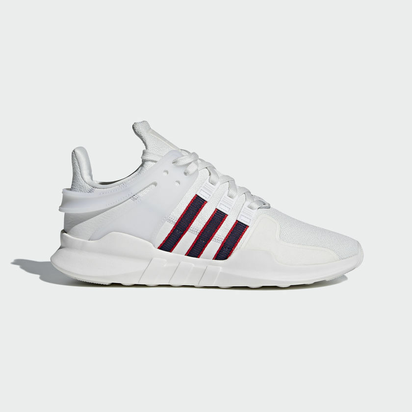 NEW Homme ADIDAS ORIGINALS EQT SUPPORT ADV Chaussures [BB6778]  Blanc//NAVY-Rouge