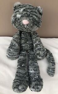 Jellycat-Merryday-Grey-Cat-With-Whiskers-Baby-Soft-Toy-Comforter-Rare-Retired