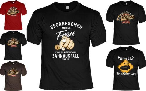 Exfrau Frau Ehefrau lustige Sprüche Tshirt Cooles Funshirt Ehemann