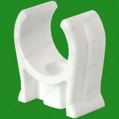 For Plumbing Open Clips Snap In Pack Sizes from 5x-50x 15mm White Cable Pipe