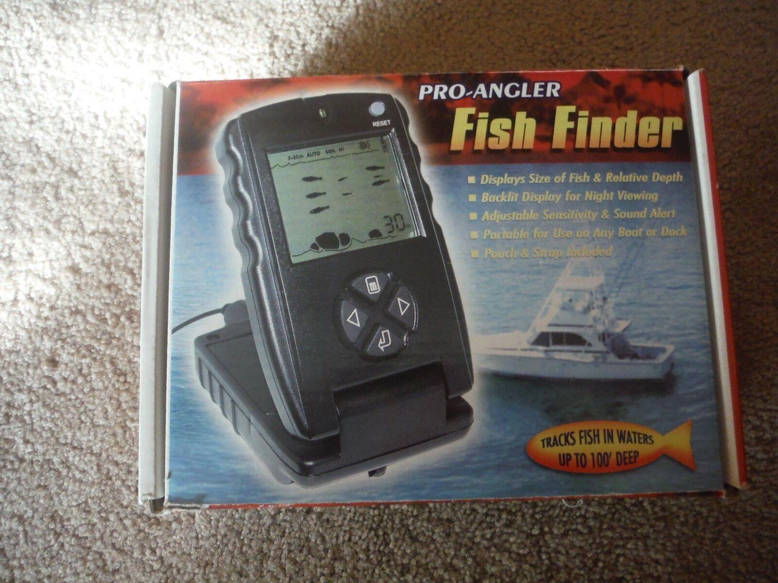 Pro angler  fish finder, EUC  80% off