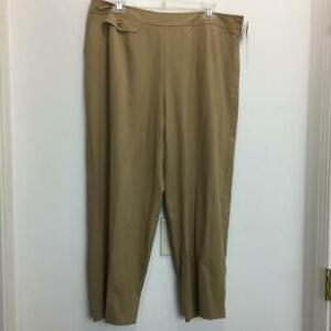 NEW-TALBOTS-Plus-Woman-Petites-Stretch-Cropped-Pants-Size-16WP-Tan-NWT
