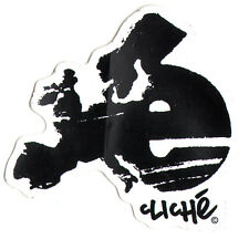 Cliche Skateboard Sticker - skate snow surf board bmx guitar van car sk8 new