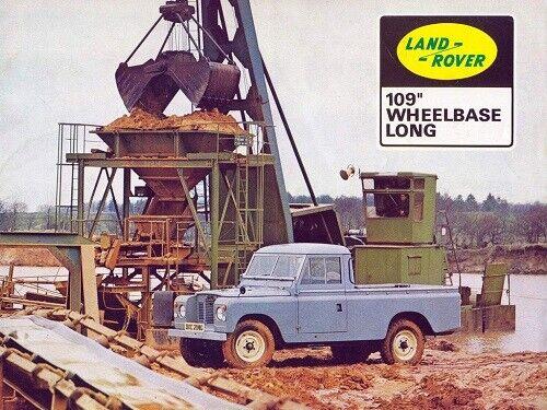 LAND ROVER SERIES-IIA 88 /& 109 RETRO POSTER BROCHURE CLASSIC ADVERT A3 !