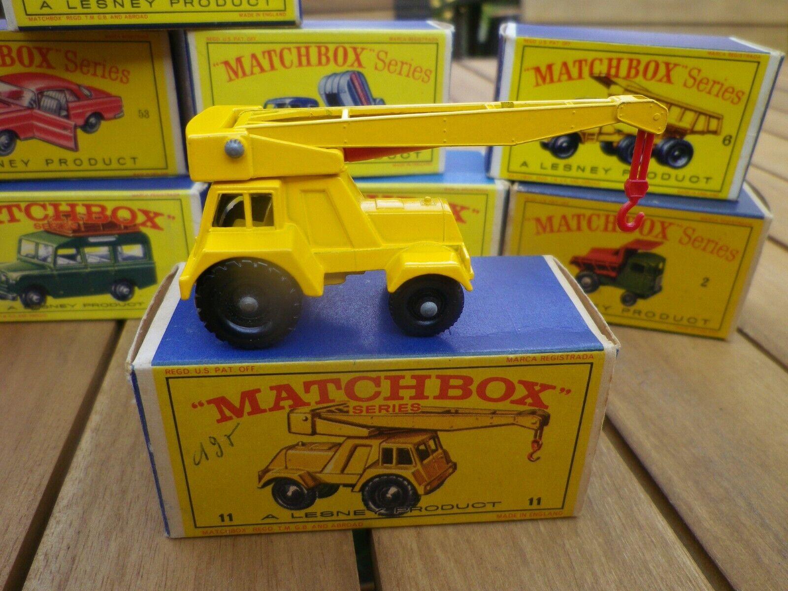 Matchbox lesney 11 jumbo crane crane mint in original box type e 2