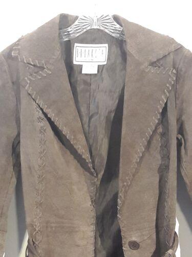 pelle di Vintage con S Giacca nappa Donna marrone Dakota Bb cintura cappotto HUAqgwIA