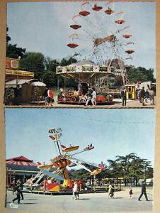 PARIS-La-Foire-du-Trone-au-Bois-de-Vincennes-Lot-de-deux-cartes-neuves