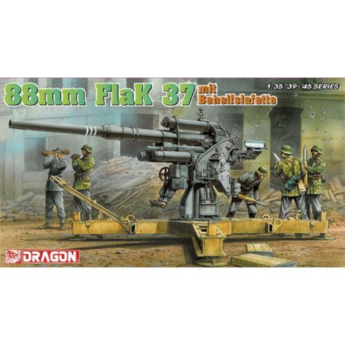 Dragon #6523 1//35 88mm FlaK37 mit Behelfslafette