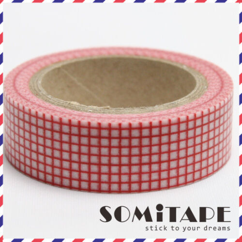 Craft Decorative Tape Red Square Pattern Washi Tape