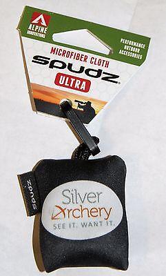 Openhartig Alpine Archery Spudz Ultra - Pocket Lens Cleaner - Black With Sa Logo! Blijf Je Altijd Fit