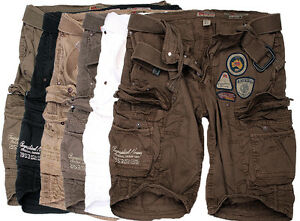 1d95dc4f3b4 Geographical Norway Men s Cargo Shorts short Bermuda + Belt Summer ...