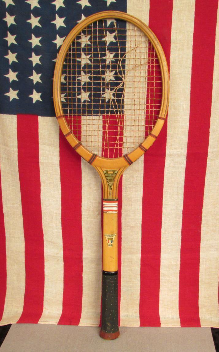 Vintage 1940s 1940s 1940s Wright & Ditson Challenge Pokal Holz Tennisschläger Allied Sport e67034