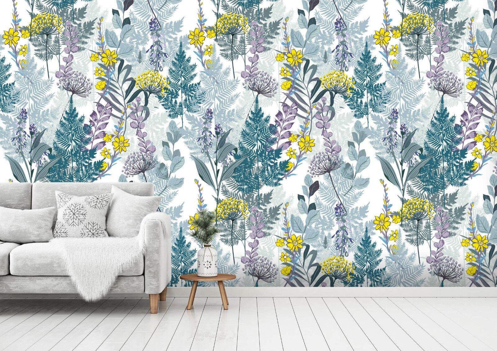 3D Yellow Petals Plants 5 Wallpaper Murals Wall Print Wallpaper Mural AJ WALL UK