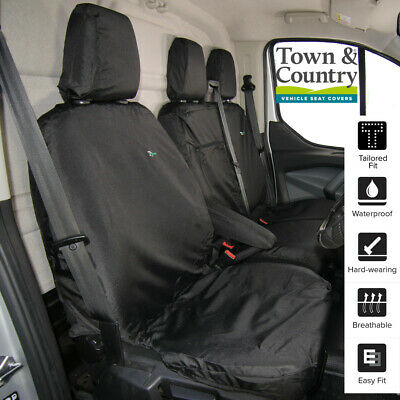 Grey Town and Country Transit Crewcab Rear Seat Cover