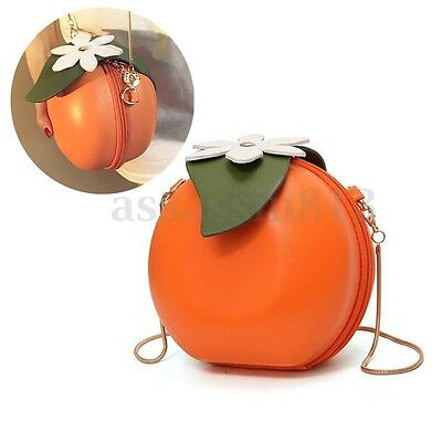 Orange Shape Women Fruits Handbag Crossbody Shoulder Bag Satchel Messenger Purse