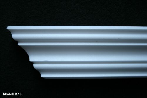 26 m Styroporleisten Zierleisten Stuckleisten Zierprofile Eckleisten Stuck K16