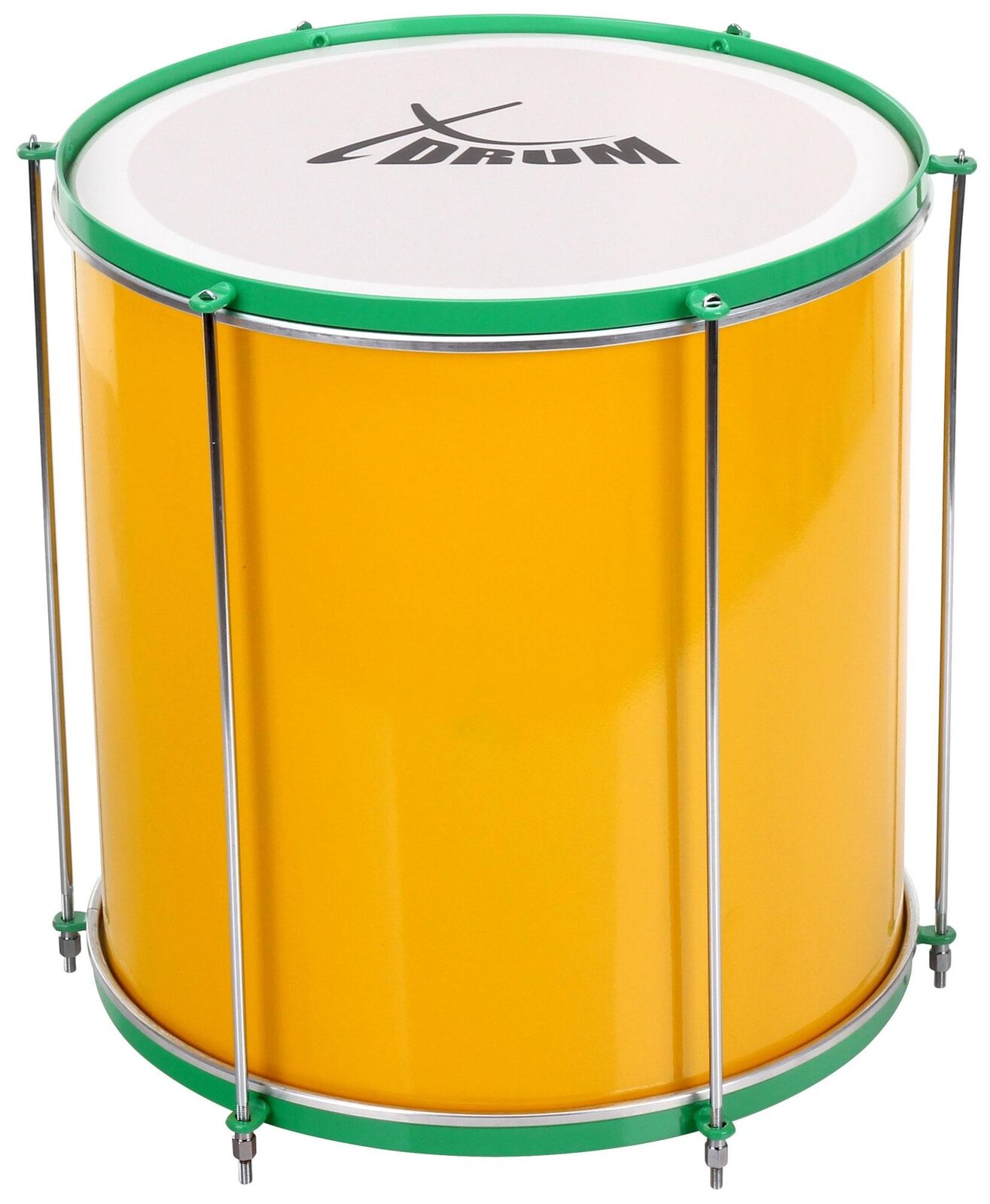 Surdo Samba TAMBURO brasiliano Bass TAMBURO Percussion ALLUMINIO 16  x 16