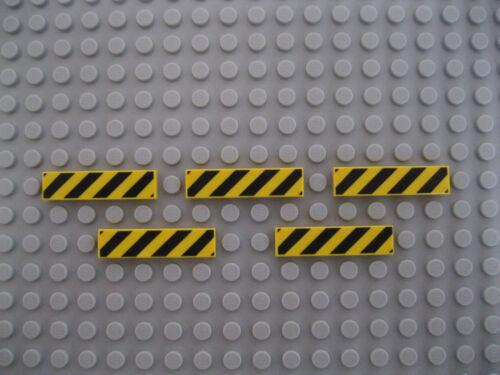 Lego Advertencia//Peligro signos azulejos de 1x4 X 5 Nuevo