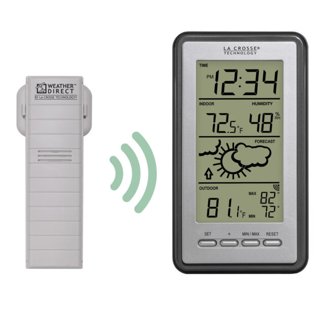 La Crosse Technology Ws 9230u It Int Digital Forecast Thermometer With Temp
