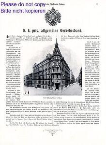 K.u.K. Allgemeine Verkehrsbank Wien XL Reklame 1908 Bank Österreich Werbung - Waldburg, Deutschland - K.u.K. Allgemeine Verkehrsbank Wien XL Reklame 1908 Bank Österreich Werbung - Waldburg, Deutschland