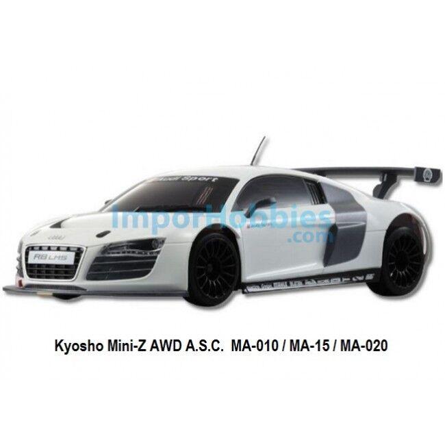 Carrocería pintada 98mm Kyosho MiniZ AWD Audi R8 LMS whitea MZP444W
