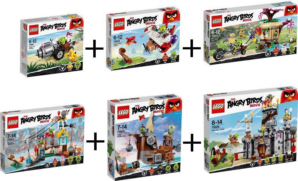 LEGO ANGRY BIRDS COLECCIÓN COMPLETA 75821 75822 75823 75824 75825 75826 - NUEVOS