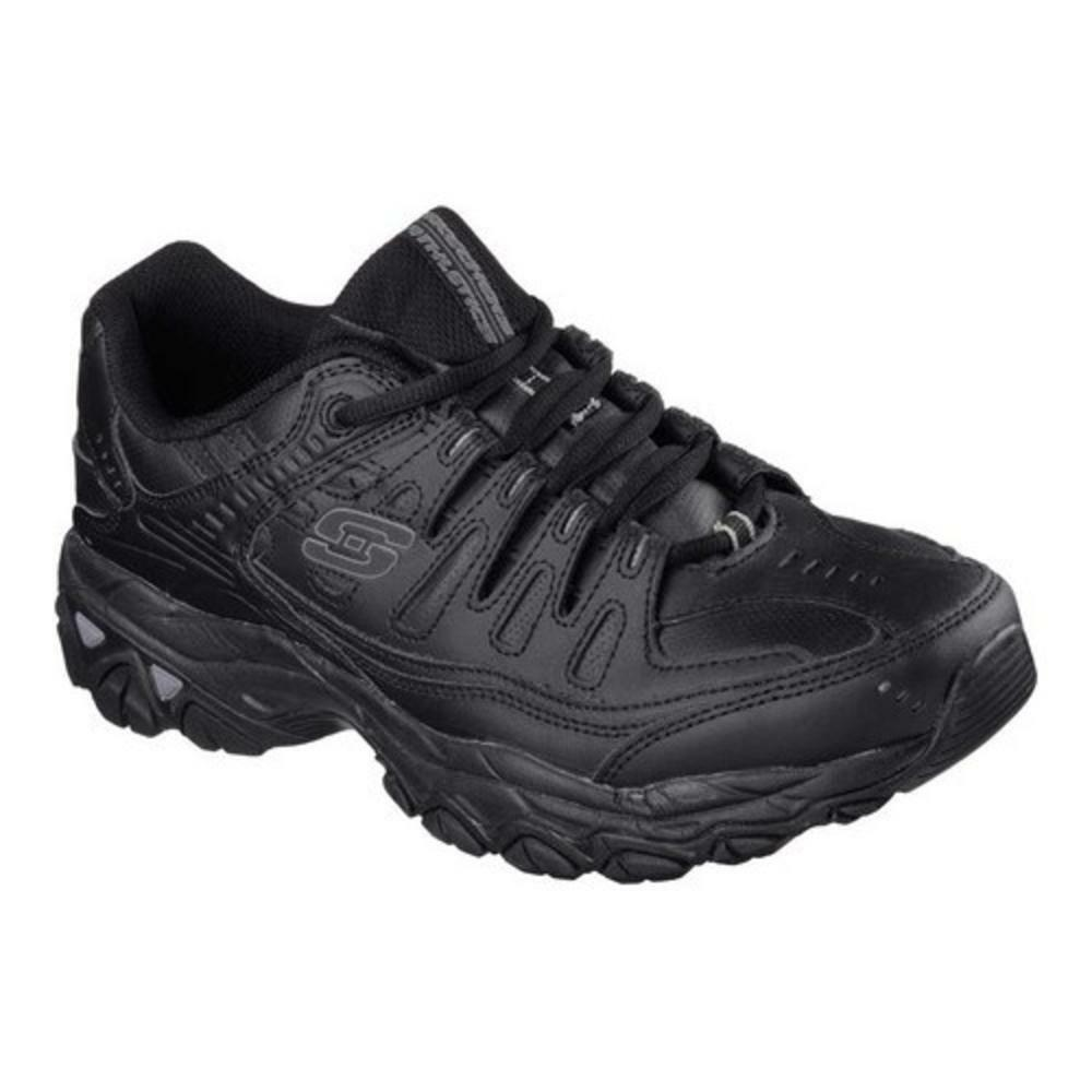 New Mens Skechers Extra Wide Black Athletic Shoe Reprint Memory Fit Support