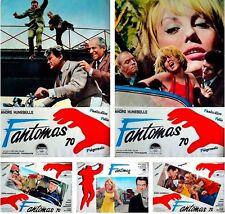 FANTOMAS complete Italian fotobusta photobusta movie posters x10 LOUIS DE FUNES