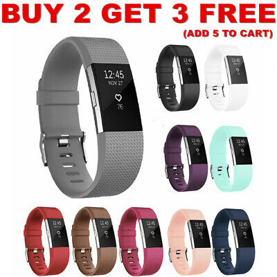 Hot Fitbit charge2 Replacement Silicone Rubber Band Strap Wristband Bracelet