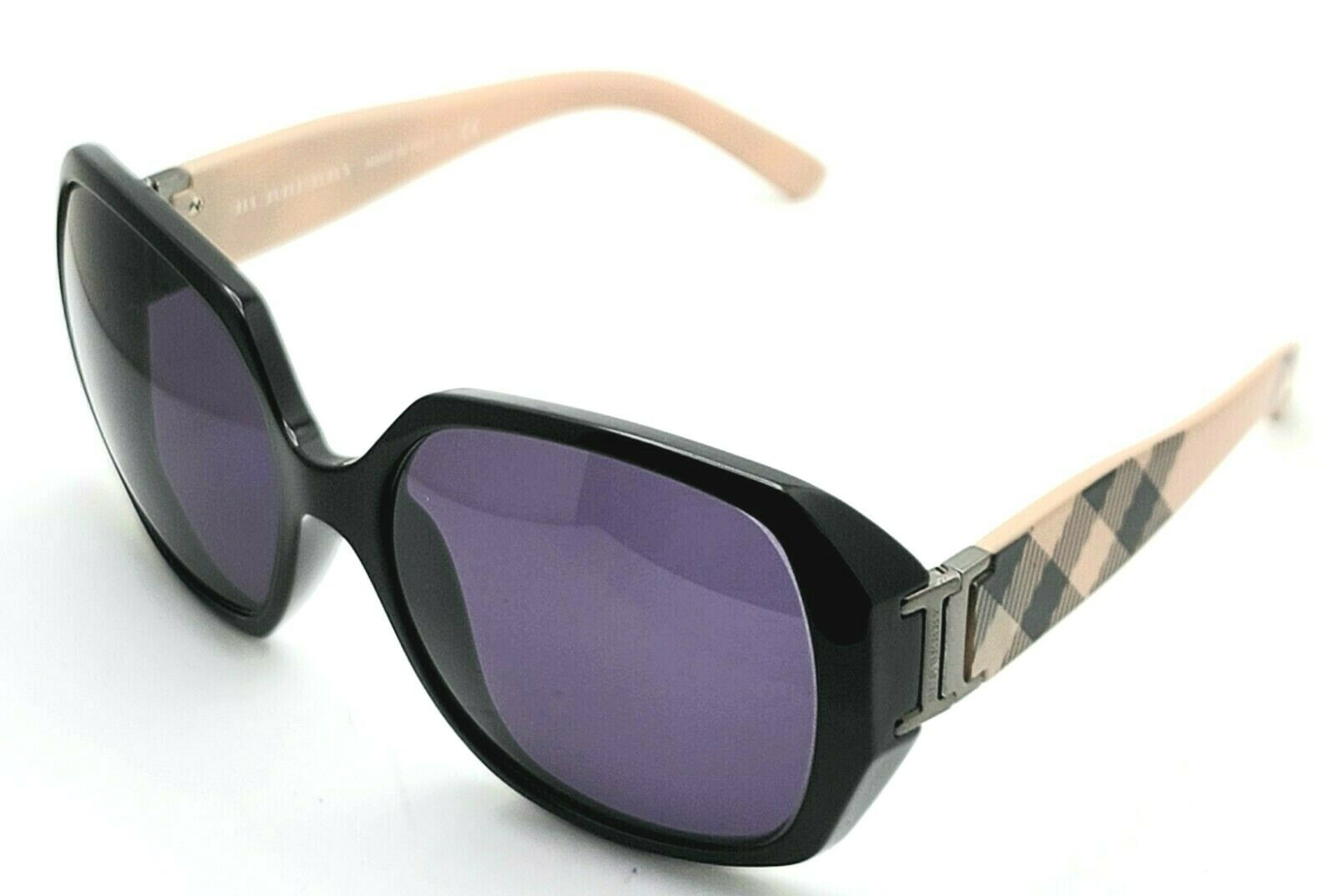 Burberry B4086 3001/73 Round black Women's Sunglasses 51-17 135 Italy