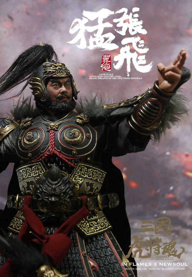 IN FLAMES NEWSOUL 1 6 Three Kingdoms Series Zhang Fei Upgraded Version IFT-038