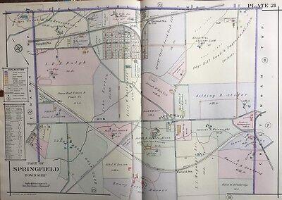 1916 MONTGOMERY COUNTY NORTH PENNSYLVANIA WYNCOTE CHELTEN HILLS ATLAS MAP