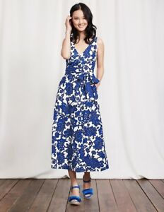better price harmonious colors lace up in Details about BODEN New Riviera Dress - Blue Island Vine - UK 10 Petite
