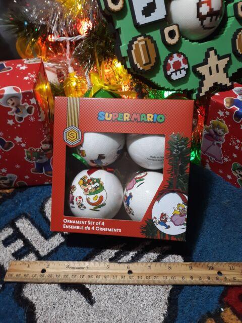 Super Mario World Christmas.B90 Super Mario World Set Of 4 Christmas Tree Ornaments Style Ribbons Nintendo
