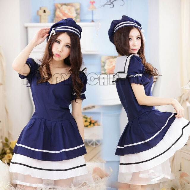 Student School Sexy Maid Servant Uniform Cosplay Costume Outfit Temptation Dress