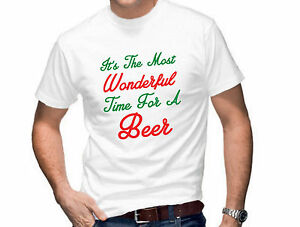 942e0a36b IT'S THE MOST WONDERFUL TIME FOR A BEER MENS FUNNY TSHIRT T SHIRT ...